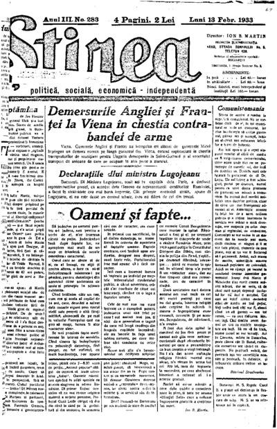 Știrea, Anul III, Nr. 283
