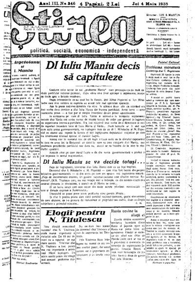 Știrea, Anul III, Nr. 346