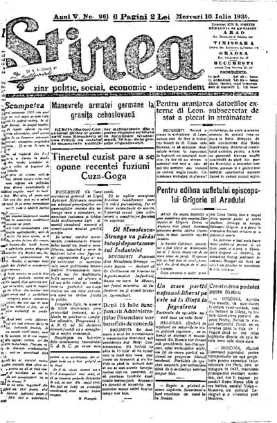 Știrea, Anul V, Nr. 961