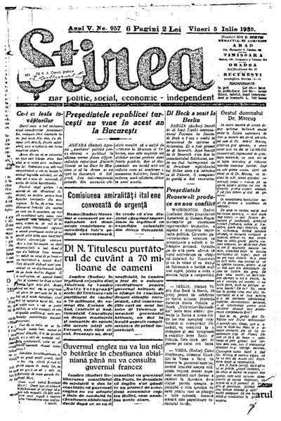 Știrea, Anul V, Nr. 957