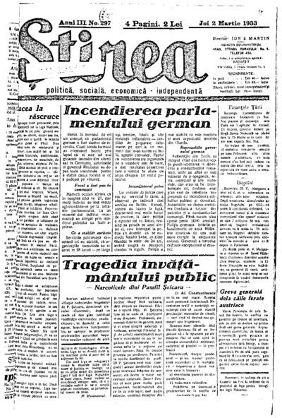 Știrea, Anul III, Nr. 297
