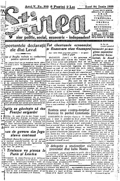 Știrea, Anul V, Nr. 950