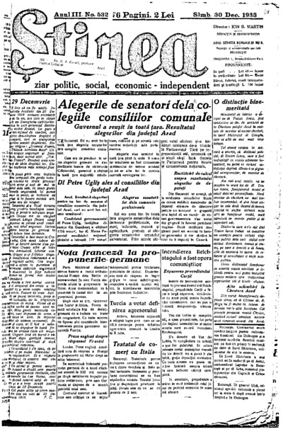 Știrea, Anul III, Nr. 532