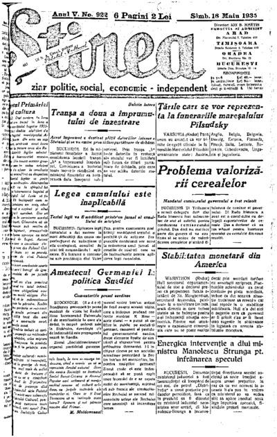 Știrea, Anul V, Nr. 922
