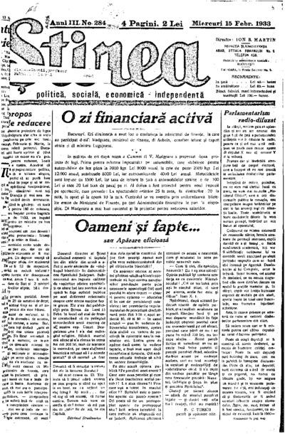 Știrea, Anul III, Nr. 284