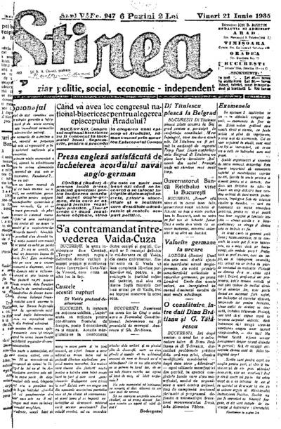 Știrea, Anul V, Nr. 947