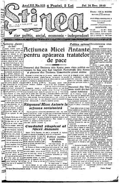 Știrea, Anul III, Nr. 521