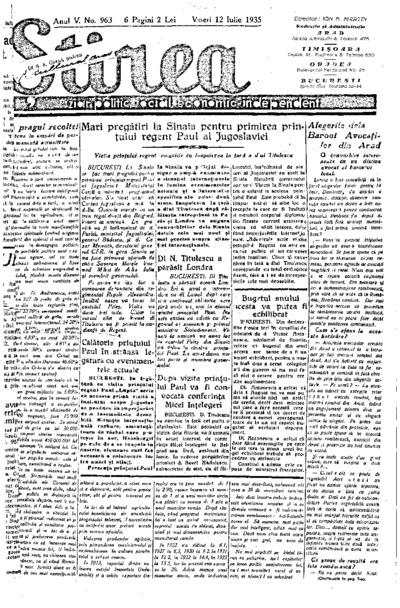Știrea, Anul V, Nr. 963