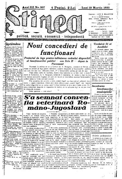 Știrea, Anul III, Nr. 307