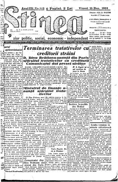 Știrea, Anul III, Nr. 522