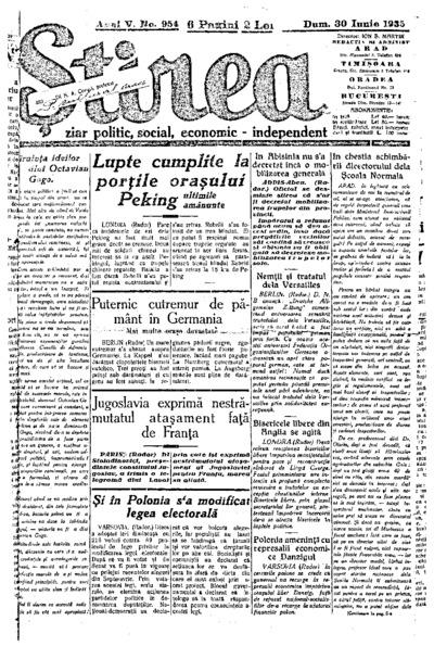 Știrea, Anul V, Nr. 954