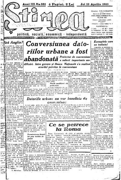 Știrea, Anul III, Nr. 332