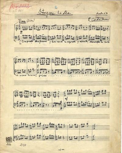 Strigare la stea Muzică tipărită Paul Constantinescu