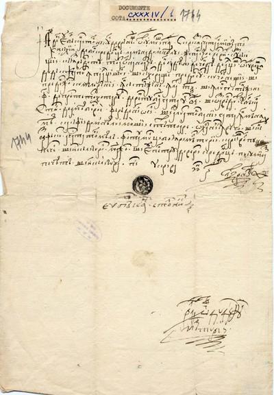 Zapisul prin care Bărcan, stolnic din Vrăneşti, vinde...