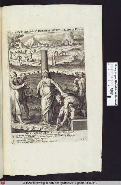 Martyrium der Hl.Agatha im Vordergrund, des Hl.Tryphon links, mittig das des Hl.Fabianus, Hl.Cornelius und des Hl.Cyprian, rechts Abdon und Sennen, die von wilden Tieren angegriffen werden.