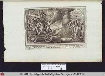 Die Belohnung für die Erfüllung der Aufgaben: der König, der Geistliche, der Bauer auf einem Wagen.