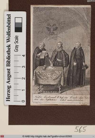 Kaiser Ferdinand II. hat zur Freude der Jesuiten das Restitutions Edict unterschrieben