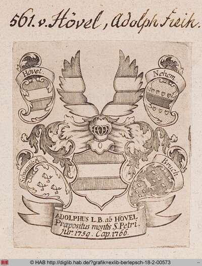 Wappen des Freiherrn Adolph von Hövel