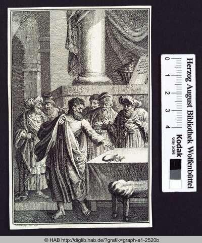 Judas Ischariot bei den Hohepriestern.
