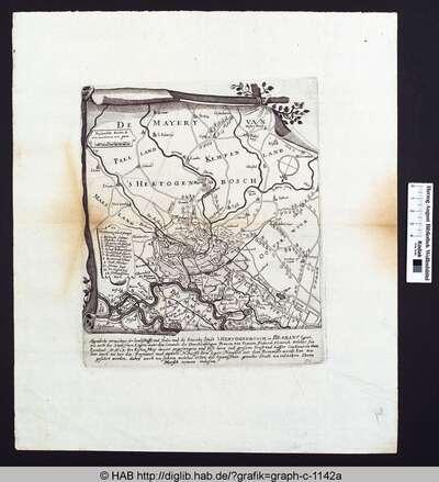 Aygentliche verzeichnus der Landschafft und Örder umb die Starcke Stadt 's Hertogenbosch in Brabant ligent, wie auch des Stadtischen Legers unter dem Comanto des Durchleüchtigen Princen von Oranien, Friderich Heinrich, welches sein Excelent Anno 1629 den ertsen May davor angefangen und biß hero ,ot grosem Ernst und Eüffer Continuiren thut