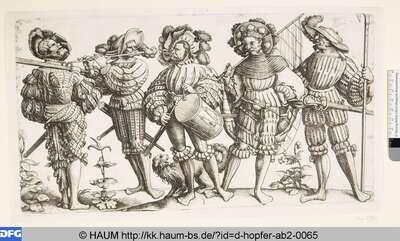 Fünf Landsknechte