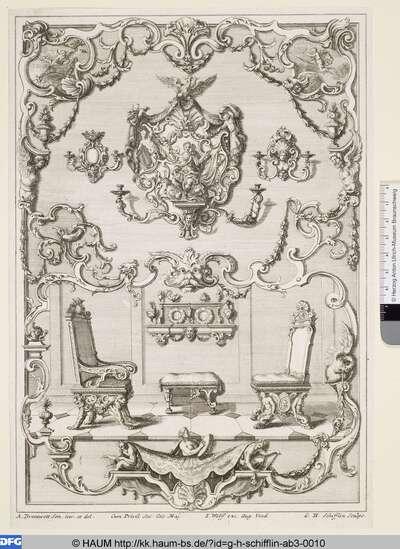 Entwurf für Sitzmöbel, Regal und Kerzenhalter