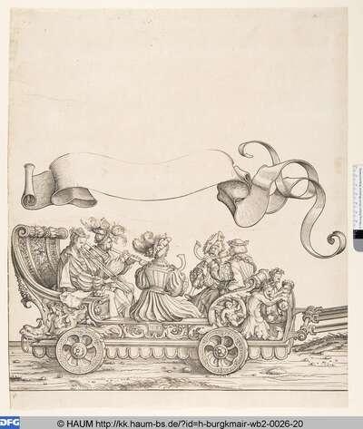 Wagen der Posaunen-, Schalmeien- und Krummhornbläser