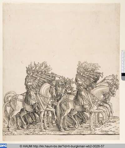 Burgundische Pfeifer zu Pferde