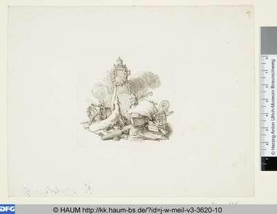 Gekrönte Leier mit Windhündin und ihren Jungen