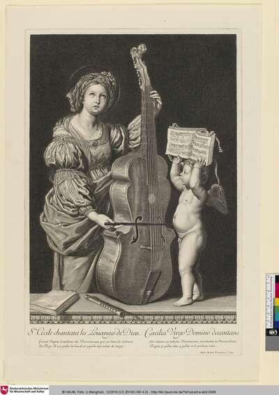 Ste. Cecile chantant les Louanges de Dieu.