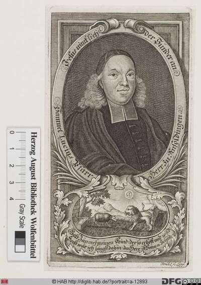 Bildnis Samuel Lucius (eig. Lutz)