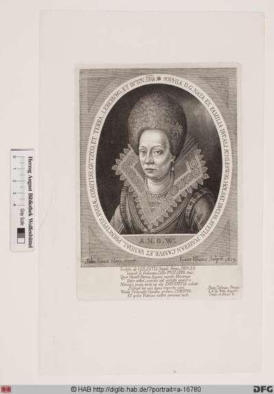 Bildnis Sophia, Herzogin von Pommern-Stettin, geb. Herzogin von Schleswig-Holstein-Sonderburg