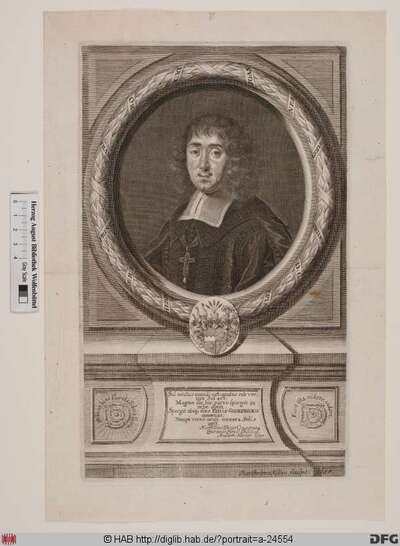 Bildnis Johann Gottfried II. (von Guttenberg), 1684-98 Fürstbischof von Würzburg