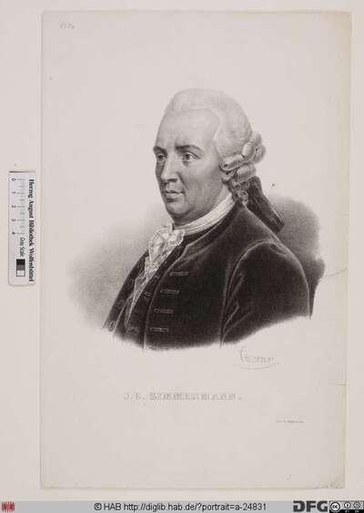 Bildnis Johann Georg Zimmermann (1786 Ritter von)