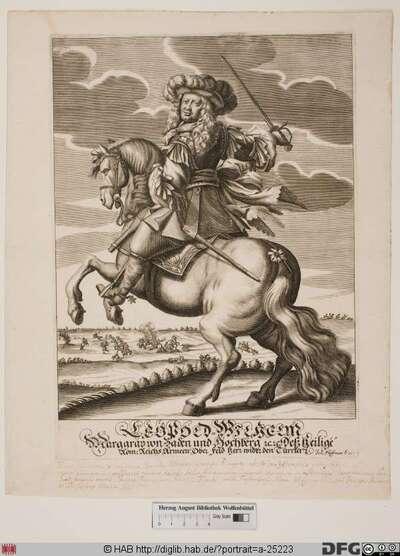Bildnis Ludwig Wilhelm (Türkenlouis), Markgraf von Baden-Baden (reg. 1677-1707)