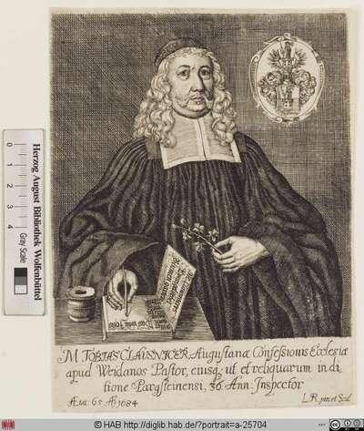 Bildnis Tobias Clausnitzer