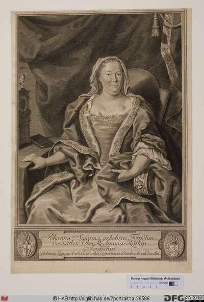 Bildnis Johanna Susanna Jentzsch, verw. Landsberger, geb. Fritzsch