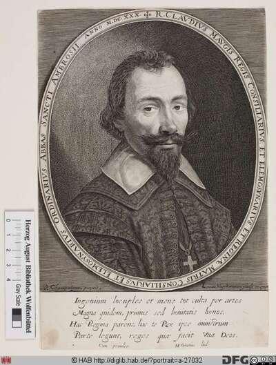 Bildnis Claude Maugis, abbé de Saint-Ambroise
