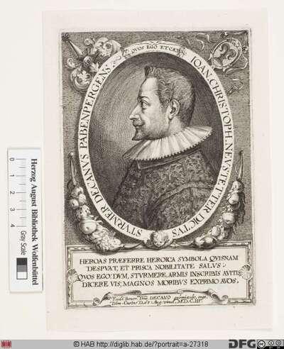 Bildnis Johann Christoph von Neustetter, gen. Stürmer