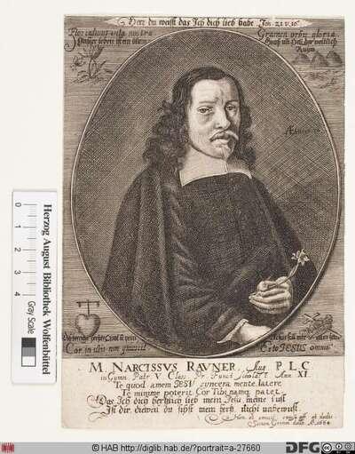 Bildnis Narcissus Rauner (1697 von)