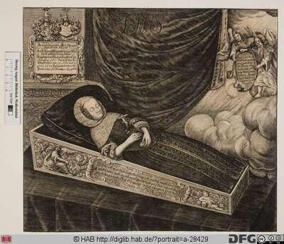 Bildnis Agnesa Magdalena von Werthern, geb. von Heßler
