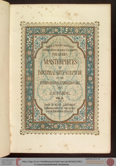 Masterpieces of industrial art & sculpture at the international exhibition, 1862: in three volumes - 1863