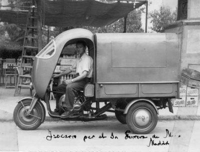 Pastas la Ideal, vehicle repartidor, isocarro pel Sr. Ferrera de Madrid