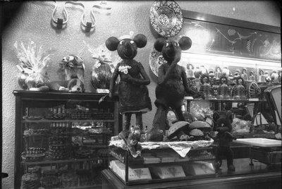 Mickey i Minnie Mouse de xocolata de la Pastisseria La Lyonesa