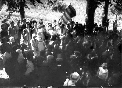 Cant de l'himne dels Segadors a Sant Miquel d'Olèrdola