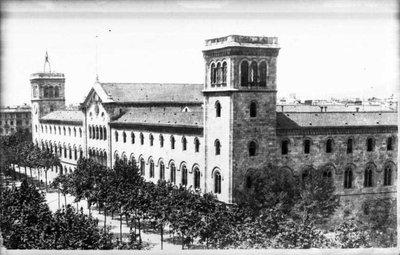 Edifici històric de la Universitat de Barcelona.