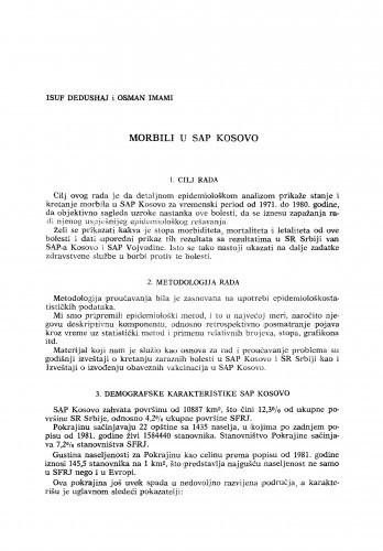Morbili u SAP Kosovo