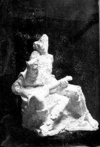 Skica za spomenik Petrici Kerempuhu - dvije figure