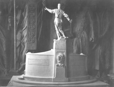 Model spomenika generalu Radku Hadži Dimitrievu za Slivno u Bugarskoj - stražnja strana
