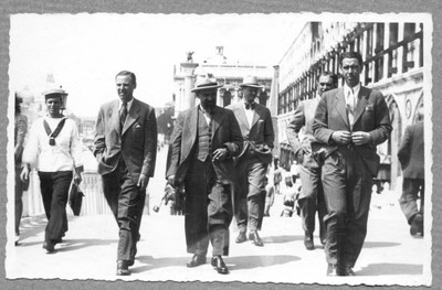 Ivo Šrepel, Ivan Meštrović i Vladimir Kirin, Venecija, 1942.